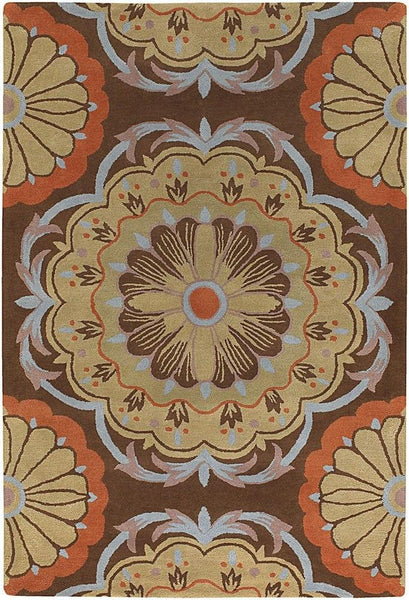 Dharma 7536 Area Rug - Brown/Blue/Orange/Tan
