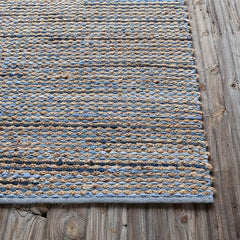 Easton 720 Reversible Area Rug - Blue/Tan/Grey