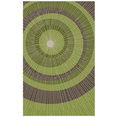 Eccentric Rug - Green/Sable