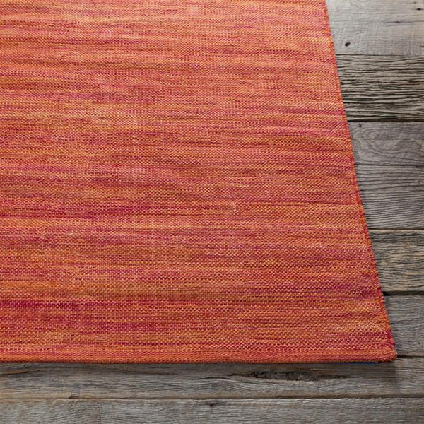 India Solid Rug - Bright Red