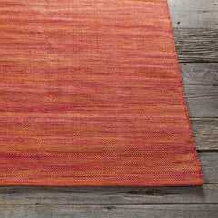 Rugs - India Solid Rug - Bright Red