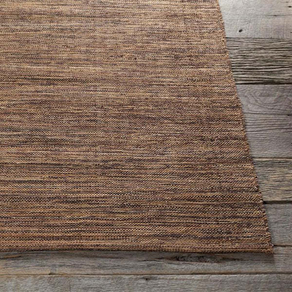 India Solid Rug - Brown