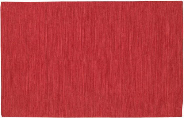 India Solid Rug - Dark Red
