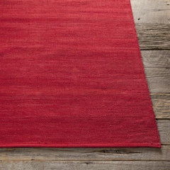 Rugs - India Solid Rug - Dark Red