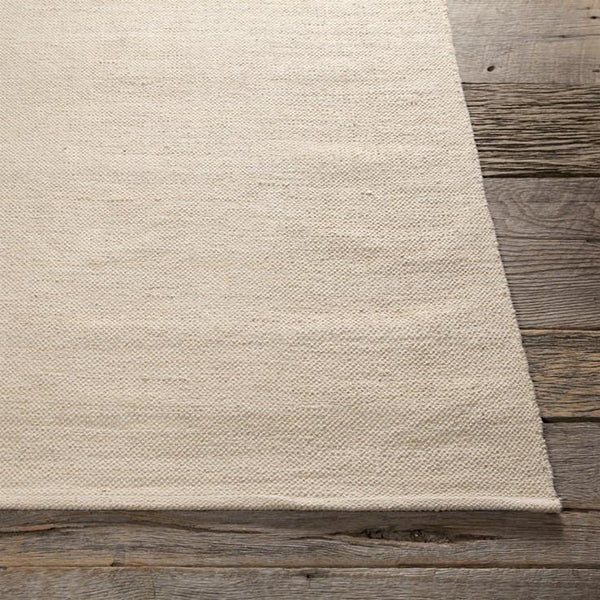 India Solid Rug - Ivory