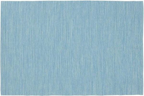 India Solid Rug - Light Blue