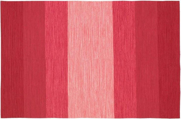 India Striped Rug - Red/Pink/Peach
