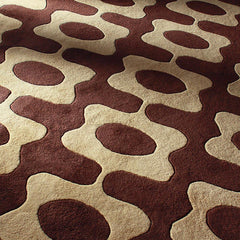 Rugs - Laugh In Chocolate & Amber Hand-Tufted Wool Rug