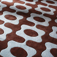 Rugs - Laugh In Chocolate & Cornflower Hand-Tufted Wool Rug