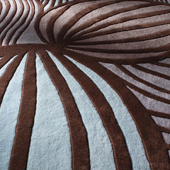 Rugs - Leaf In Fossil & Glacier Hand-Tufted Wool Rug
