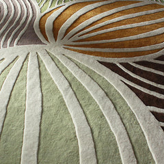 Rugs - Leaf In Natural & Apricot Hand-Tufted Wool Rug