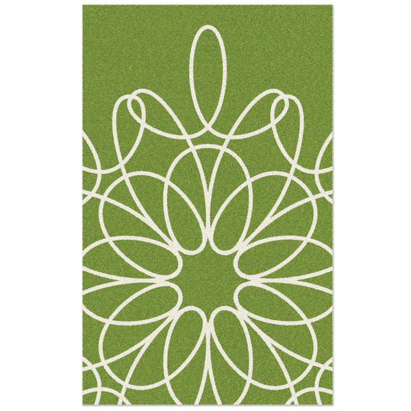 Ribbon Rug - Green/White