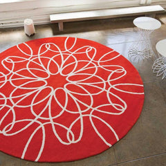 Rugs - Ribbon Rug - Red/White