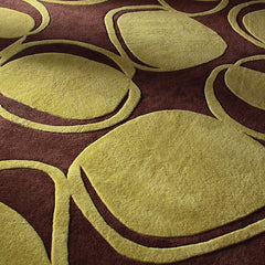 Rugs - River Rock In Chocolate & Kiwi Hand-Tufted Wool Rug