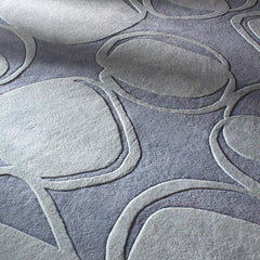 Rugs - River Rock In Soft Blue Hand-Tufted Wool Rug