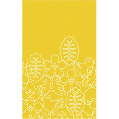 Season Rug - in White/Canary Yellow