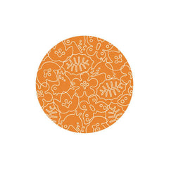 Season Rug - in White/Persimmon Orange - 6ft round