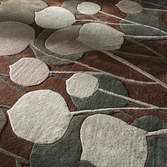 Rugs - Seedling In Chocolate & Natural Hand-Tufted Wool Rug