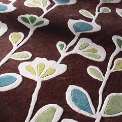 Rugs - Stencil In Chocolate Hand-Tufted Wool Rug