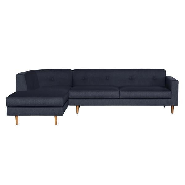 Metropolis 2-Seat Sofa + Left Chaise Longue