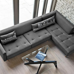 Sectional Sofas - Metropolis 3-Seat Sofa + Right Corner Unit