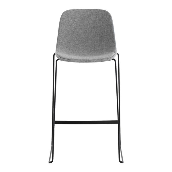Seela Bar Stool - Sled Base - Fully Upholstered