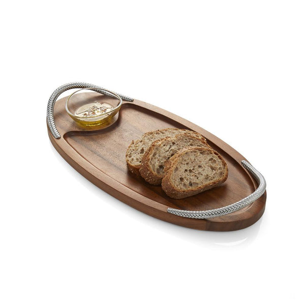 Bread Board with Dipping Bowl