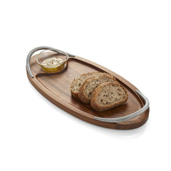 Serving Platters & Trays - Bread Board With Dipping Bowl