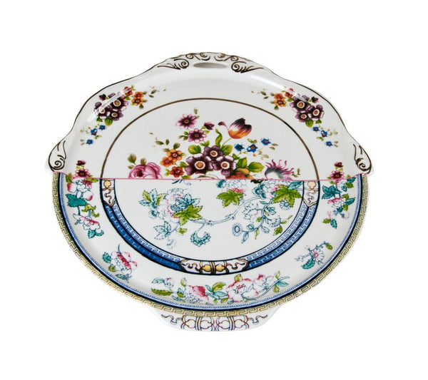 Hybrid - Dorotea Round Tray In Porcelain