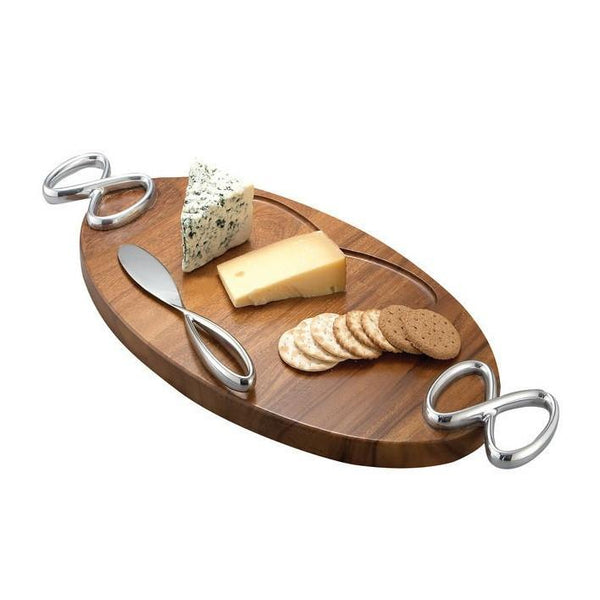Serving Platters & Trays - Infinity Cheese Board W/ Knife