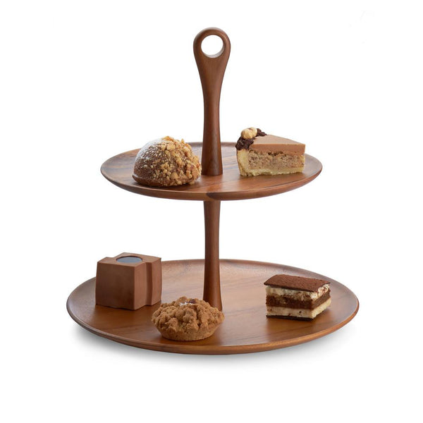 Skye Wood Tiered Dessert Stand