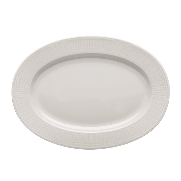 Serving Platters & Trays - Swedish Grace Oval Dish - Snow