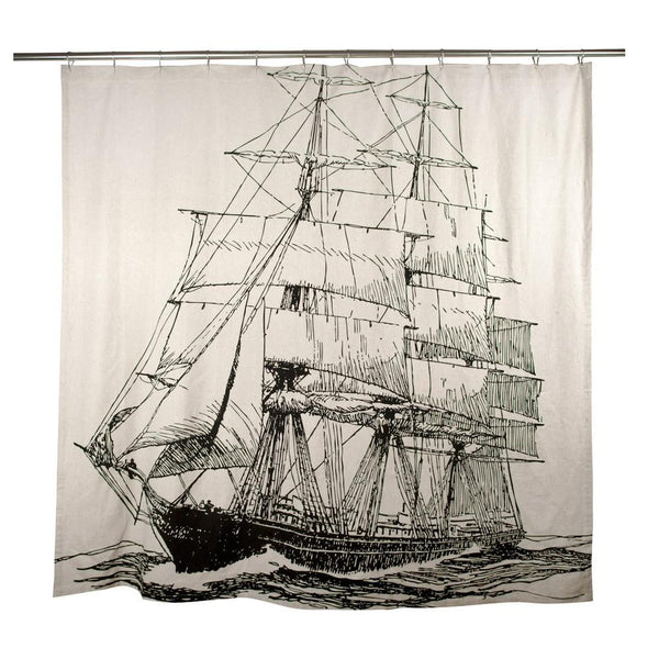 Shower Curtains & Rings - Thomaspaul Ship Flax Shower Curtain