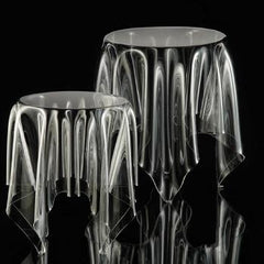 Side & End Tables - Illusion Side Table - Clear