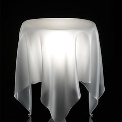 Side & End Tables - Illusion Side Table - Ice White