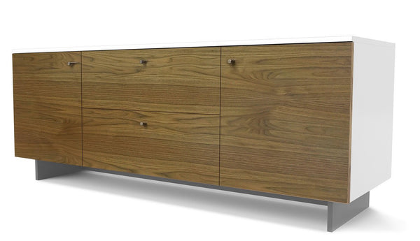 Roh Credenza - Walnut with White