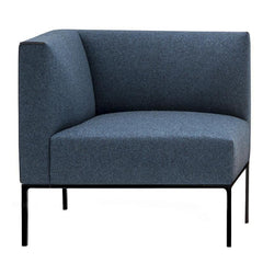 Sofas - Raglan 1-Seater Corner Sofa [Right Side] - 4-Leg Aluminum Base