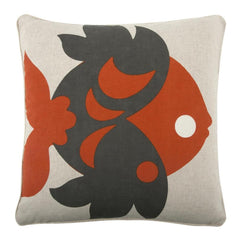 Throw Pillows - Amalfi Goldfish Flax Pillow