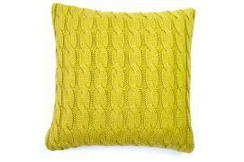 Throw Pillows - Big Cable Pillow - Curry