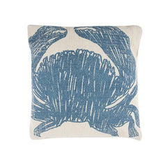 Throw Pillows - Crab Sketch Pillow - Aqua