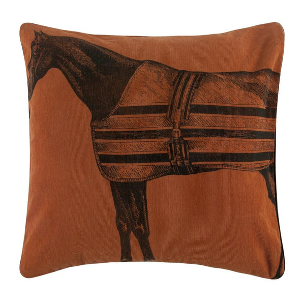Throw Pillows - Equestrian Corduroy Pillow - Equestrian