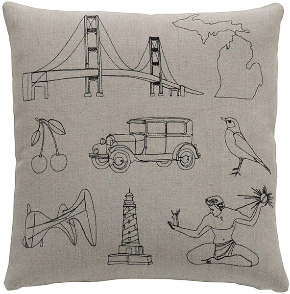 Throw Pillows - Michigan Pillow