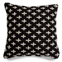 Throw Pillows - Mima Woven Pillow - Black