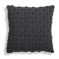 Throw Pillows - Mima Woven Pillow - Black/Navy