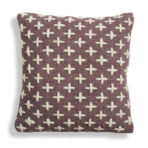 Mima Woven Pillow - Purple