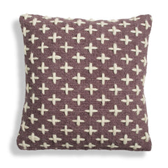 Throw Pillows - Mima Woven Pillow - Purple