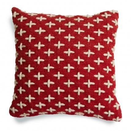 Throw Pillows - Mima Woven Pillow - Red