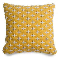 Throw Pillows - Mima Woven Pillow - Yellow