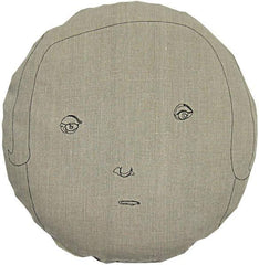 Throw Pillows - Round Face Female Pillow