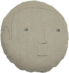 Throw Pillows - Round Face Male Pillow